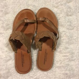 Tan American Eagle Sandals